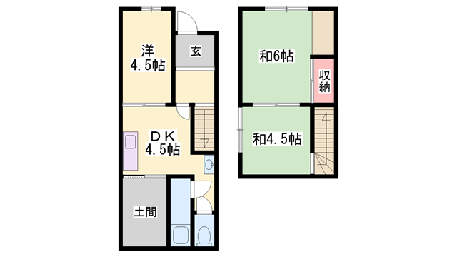 物件番号: 1119491865  姫路市城北新町2丁目 3DK 貸家 間取り図