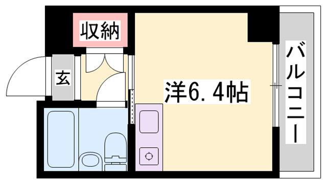 物件番号: 1119492737  小野市片山町 1R マンション 間取り図