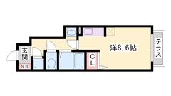 英賀保駅徒歩5分☆ コンビニも徒歩すぐで生活立地良好です!! 105の間取