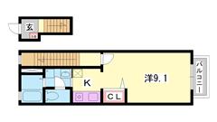 エアコン・BS・温水洗浄便座等設備充実☆姫路西バイパス近くで便利♪ 202の間取