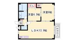 3DK→2LDKへリノベーション! ウォシュレット シャンドレ完備☆ 是非内覧を 105の間取