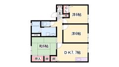 姫路バイパス中地ランプすぐ 駐車場1台込み 買い物近く。 201の間取