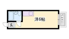 敷礼0&0!!驚異の家賃!!初期費用も低額!!バルコニー南向き☆ 201の間取