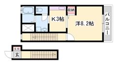 エアコン・浴室乾燥付♪追い焚き機能付き☆人気のシステムキッチン☆ 203の間取