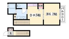 ペットOK物件☆駅まで徒歩3分!!すぐ近くにスーパーが有ります♪ 201の間取