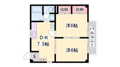 初期費用お安め!(^^)! 別府駅まで徒歩圏内ですよ(^^♪ 202の間取