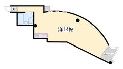 最上階で角部屋☆ リオス目の前で便利☆広々14帖(^^♪ 4-Bの間取
