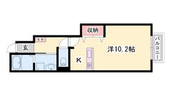 敷金0円物件 人気の対面キッチン 浴室乾燥機付き 短期契約もご相談可能☆ 104の間取