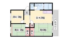 閑静な住宅街(^O^)/嬉しい都市ガス仕様☆ウォシュレット付き 202の間取