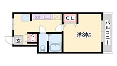 オートロック付で安心のマンション! インターネット光対応 2口ガスコンロ完備☆ 306の間取