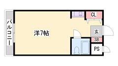東加古川駅徒歩5分!!敷金・礼金0円♪♪ デザインリフォーム予定! 103の間取