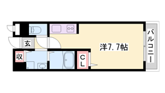収納たっぷりで居住空間がスッキリ☆ オール洋室ですよ♪ 閑静な住宅街です☆ 203の間取