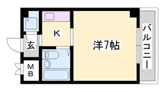 野里駅徒歩圏内です お家賃重視の方におすすめですよ   408の間取