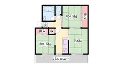 都市ガスで経済的! RC構造で遮音性!!東加古川駅アクセス可能! 506の間取