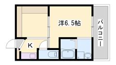 リフォーム物件☆ユニットバス・トイレ・洗面化粧台・エアコン新品♪ 404の間取