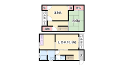 広々2LDKのメゾネット物件です(*^^)v生野駅にアクセス可です☆ B-4の間取