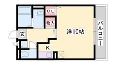 播磨高岡駅まで徒歩14分!駐車場1台分無料! 105の間取