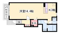 敷金礼金0円!山陽網干駅まで徒歩圏内 スーパー近く生活便利です! 103の間取