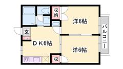 敷金礼金0円!専用庭付き。オール洋室にリフォーム済。角部屋です♪  102の間取