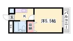 高砂駅まで徒歩8分!システムキッチ完備の1Kマンションです(^^♪お家賃もお得! 401の間取