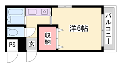敷金・礼金0円物件です★☆ エアコン付で設備充実♪ 402の間取