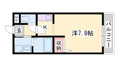 敷金礼金0円!山陽網干駅徒歩3分の駅近物件。敷地内駐車場あります。 102の間取