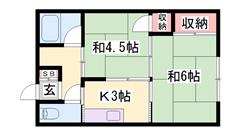 山陽伊保駅徒歩5分!角部屋♪お風呂トイレ別のセパレート物件☆ 101の間取