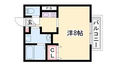 eo光・Bフレッツ導入済み 生活便利な環境です バストイレ セパレート。 205の間取