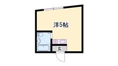 敷礼0円!!ネット無料☆事務所使用可能♪デスク・家電付きのお部屋です♪ 302の間取