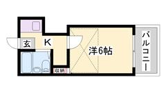 都市ガスで経済的です(^^♪ 野里駅まで徒歩3分です★ 敷金・礼金0円物件☆ 102の間取