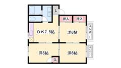 敷金礼金0円! 広いお部屋です。 短期契約もご相談可能! 102の間取