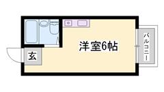 敷金・礼金0円物件! 人気の角部屋です! 一人暮らしにおすすめです! 101の間取