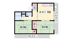 システムキッチン エアコン2台付き RC造マンションです!! 2-3の間取