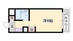敷金・礼金0円マンション☆ 嬉しいオール電化仕様!! ミニ冷蔵庫付きです♪♪ 418の間取