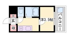 敷金・礼金0&0円!バス・トイレ別!駐車場敷地内! 706の間取