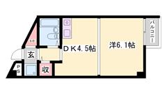 加古川駅楽々徒歩圏内!ロフト付き!人気の都市ガス物件! 202の間取