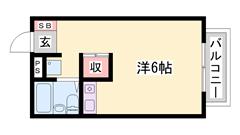 敷金・礼金0円 家具家電付き インターネット使い放題! 102の間取