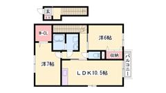 駐車場込み家賃☆ 鶴居駅まで徒歩5分 設備充実の築浅物件です! 202の間取