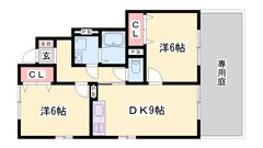 駐車場2台込みの家賃☆ 鶴居駅まで徒歩5分 設備充実の築浅物件です! 102の間取