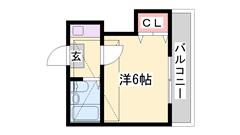 敷金礼金0円!加古川駅徒歩圏内。ロフト付きで収納便利です!! 102の間取