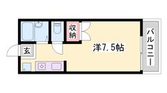 敷金・礼金0&0円、エアコン付き、バス・トイレ別、駐車場空きあり。 203の間取