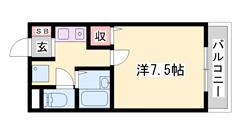 低額賃料で経済的☆エアコン・照明器具・冷蔵庫付きですぐ暮らせます! 306の間取