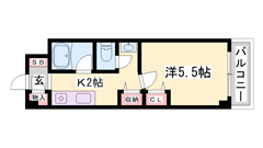 バス・トイレ別☆ 都市ガスで経済的! エレベーター付きで快適ライフを♪ 606の間取