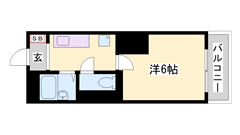 バス停まで徒歩2分、周辺生活施設多数あり、敷地内駐車場空きあり。 303の間取
