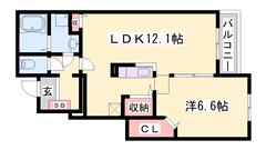 香呂駅徒歩9分!人気のカウンターキッチン☆設備充実のハウスメーカー物件! 102の間取