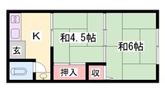 都市ガスで経済的!姫路駅まで自転車で15分♪ 6の間取
