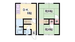 加古川駅まで徒歩10分!人気のメゾネットタイプ! 6の間取