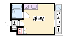 敷・礼0円!エアコン完備☆兵庫大学まで徒歩1分!お手頃家賃です!! 203の間取