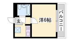 敷・礼0円!オール電化!周辺買い物便利な立地です♪お手頃家賃の1K! 203の間取