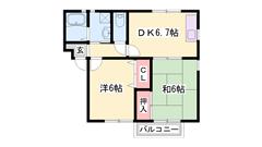 駐車場1台込!香呂駅徒歩5分☆バルコニー南向き☆周辺買い物便利です♪ 202の間取